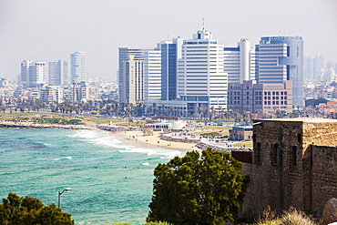 Buildings And Beach Along The Sea Of Galilee, Joppa, Israel