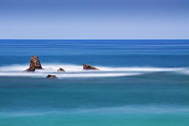 Rock Formations In The Mediterranean Sea, Joppa, Israel