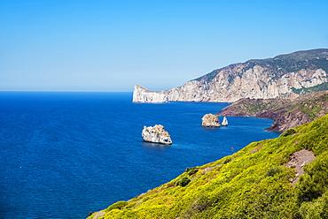 View Of Porto Flavia, Carbonia Iglesias, Sardinia, Italy