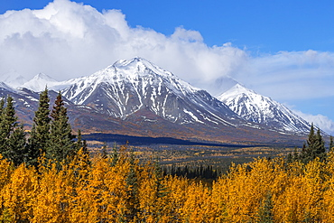 Autumn Scenic Along The Alaska Highway, Kluane National Park, St. Elias Mountains, Yukon Territory, Canada