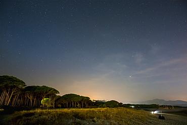 Santa Lucia At Night, Santa Lucia, Sardinia, Italy