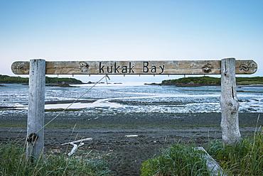 Kukak Bay Sign Near Katmai Wilderness Lodge, Katmai National Park & Preserve, Alaska