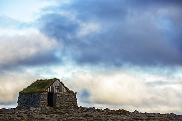 Abandoned Rock And Stone House In Rural Iceland, Iceland