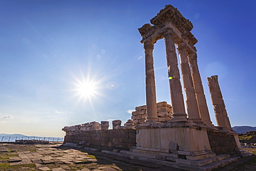 Ruins Of The Temple Of Trajan, The Pergamenes Were Known As The Temple-Keepers Of Asia, Pergamon, Turkey