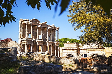 Ruins Of The Library Of Celsus In Ancient Ephesus, Ephesus, Turkey