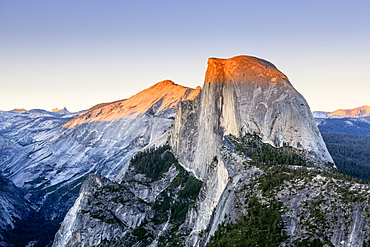 Half Dome At Sunset From Glacier Point, Yosemite National Park, California, United States Of America