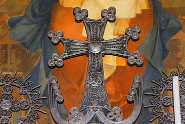 Armenian Cross In The Church Of The Holy Mother Of God (Surb Astvatzatzin) At Khor Virap Monastery, Ararat Province, Armenia