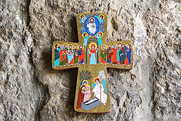 Cross With Paintings Depicting The Life Of Jesus At Khor Virap Monastery, Ararat Province, Armenia