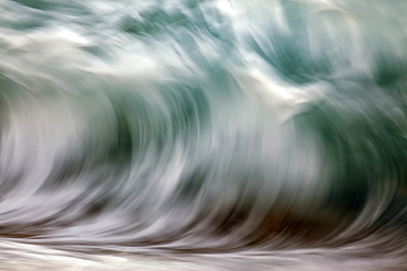 Blur Of The Motion Of A Wave, Hawaii, United States Of America