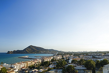 Altea Is A Beautiful Town In Costa Blanca, Landscape And Cityscape From The Top Of The Downtown, Altea, Alicante, Spain