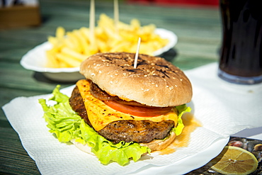 Hamburger In Moinhos Beach, Sao Miguel, Azores, Portugal