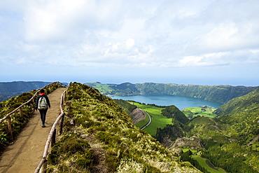 Panoramic View Of Sete Cidades, Ponta Delgada, Sao Miguel, Azores, Portugal