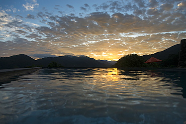 Sunlight Reflected On The Tranquil Ocean Water At Sunset, Jalisco, Mexico