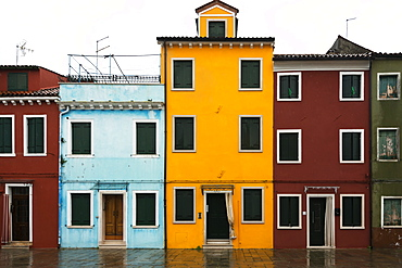 Colourful Houses In A Row, Venice, Italy