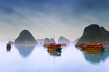 Hotel Junks, Halong Bay, Vietnam