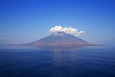 Offshore Volcano Emerging From The Sea At Kawula Bay