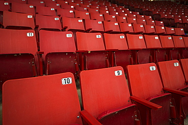 Red Stadium Seats, Brandon, Manitoba, Canada