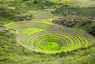 Moray Ruins In The Sacred Valley, Archaeological Site, Cuzco, Peru