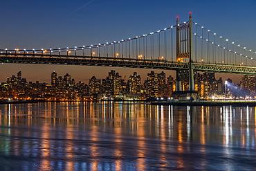 Rfk Triboro Bridge At Twilight, New York City, New York, United States Of America