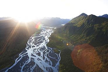 Landscape Of Kenai Mountains At Sunset, Kachemak Bay State Park, Alaska, United States Of America