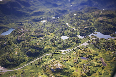Road To Bradley Lake Power Dam, Homer, Alaska, United States Of America