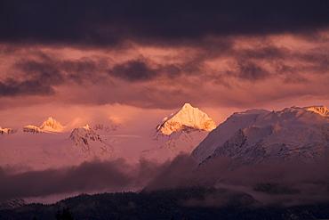 Kachemak Bay State Park At Sunset, Alaska, United States Of America
