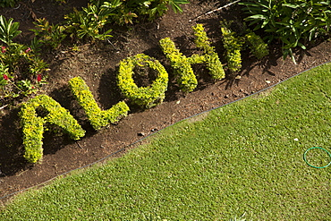 Aloha Written In Plants, Wailea, Maui, Hawaii, United States Of America