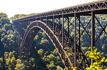 The New River Gorge Bridge Is A Steel Arch Bridge 3,030 Feet Long Over The New River Gorge Near Fayetteville, In The Appalachian Mountains Of The Eastern United States, West Virginia, United States Of America