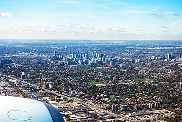 Mississauga Ontario From Airline Point Of View, Returning To Pearson International Airport, Mississauga, Ontario, Canada