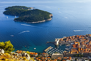 View Of Port And Rooftops, Dubrovnik, Croatia