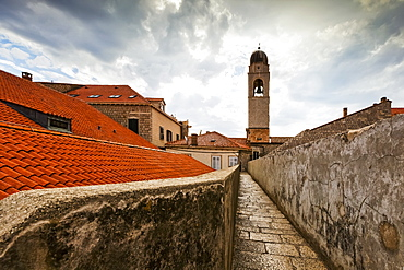 City Walls And Tower Of The Franciscan Monastery, Dubrovnik, Croatia