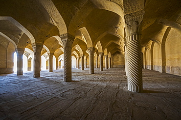 Columns In The Shabestan Or Prayer Hall Of Vakil Mosque, Shiraz, Fars Province, Iran