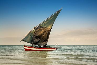 Dhow In Vilanculos Beach, Bazaruto Archipelago, Mozambique