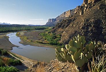 Rio Grande Where It Exits Santa Elena Canyon, Texas, Usa