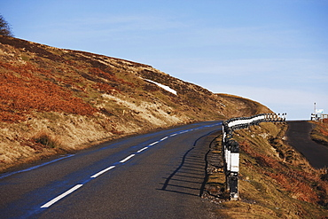 Hill End, County Durham, England; A Road Through The Hills