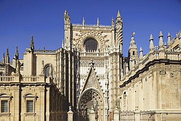 16Th Century Gothic Cathedral Of Seville (La Catedral De Sevilla); Seville, Andalusia, Spain