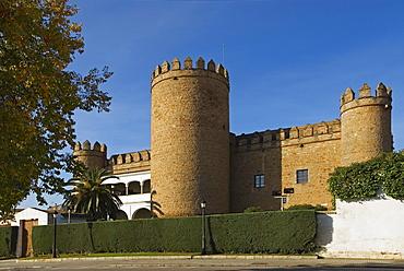 Castle At Zafra, Now A Spanish Parador, Badajoz, Extremadura, Spain