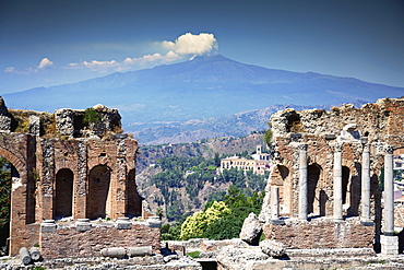 Greek Amphitheatre; Taormina, Sicily, Italy