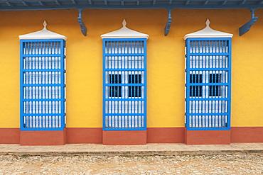 Cuban House Facades; Trinidad, Cuba