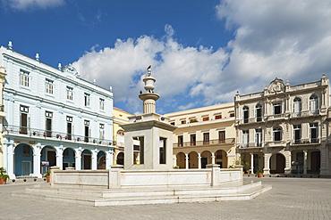 Plaza Vieja With Fountain; Havana, Cuba