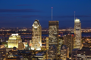 Skyline At Night; Montreal, Quebec, Canada