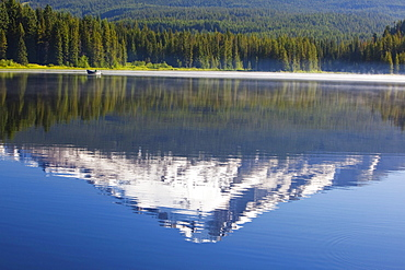 Reflection Of Mount Hood In Trillium Lake In The Oregon Cascades; Oregon, United States Of America
