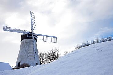 Windmill In Winter; Sunderland, Tyne And Wear, England