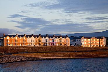 Coastal Irish Town At Sunset; Bundoran, County Donegal, Ireland