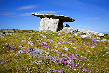 Ancient Megalithic Tomb, Poulnabrone Dolmen; Ballyvaghen, County Clare, Ireland