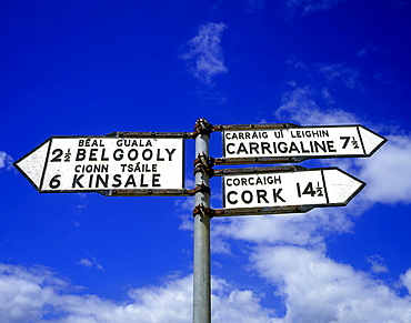 Signpost In Belgooly, County Cork, Ireland