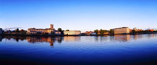 Limerick City, River Shannon With A View Of The Merchants Quay & Honans Quay, Ireland