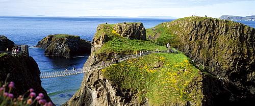 Carrick-A-Rede Rope Bridge, Carrick Island, County Antrim, Ireland