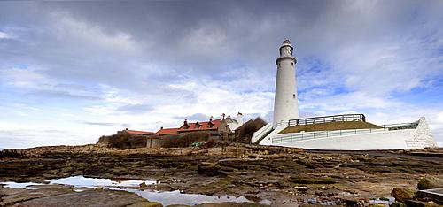 Whitley Bay, Northumberland, England; St. Mary's Lighthouse