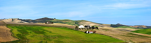 Andalusia, Spain; A View Of The Typical Andalusian Landscape Near Arcos De La Frontera
